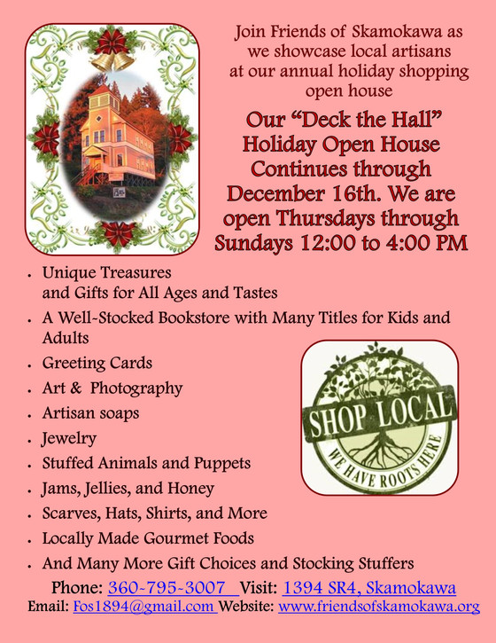 "Our ""Deck the Hall"" Holiday Open House Continues through December 16th. We are open Thurs. through S"
