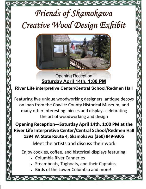 Friends of Skamokawa Creative Wood Design Exhibit Opening and Reception