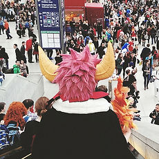 Costume with Spikey Hair and Horns