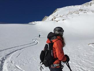 Godille sur le glacier de Saleinaz
