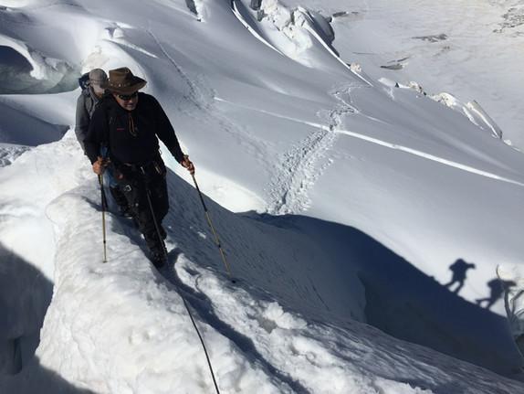En route pour le Piz Bernina