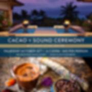Cacao, cacao ceremony, gong, gong bath, Halloween, sound healing, maui, sound bth, spa montage, montage, kapalua bay, meditatin, shanti sound healing, maui events, october, shanti