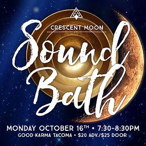 Sound Healing, Tacoma, Christina Felty, Sound Bath, PNW, Crescent Moon, Sound Healing, Singing Bowls, Meditiation, Yoga, Tacoma