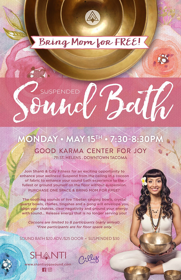 Suspended Sound Bath, Shanti, Tacoma Sound Healing, Sound Bath, Christina Felty