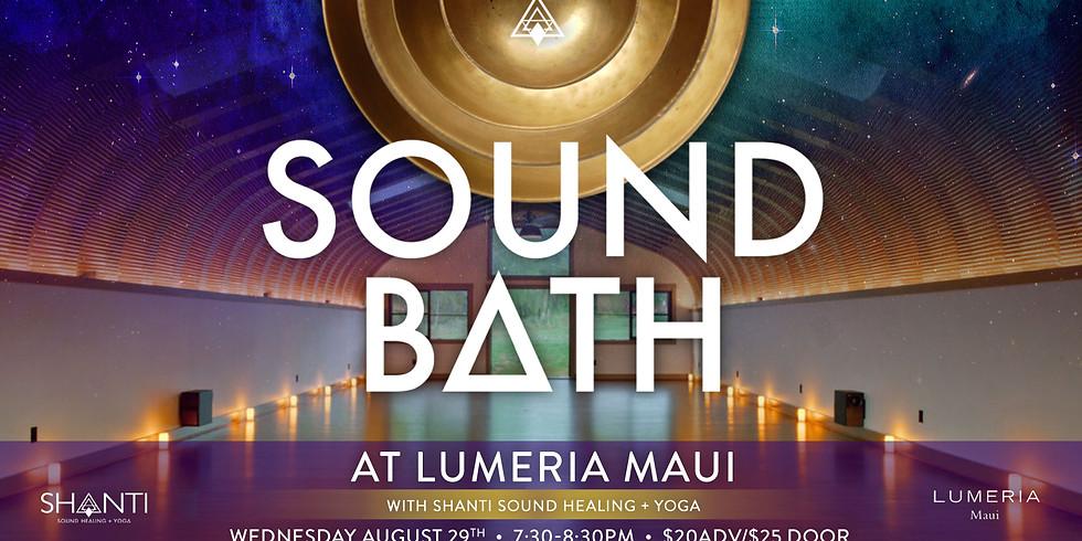 Shanti Sound Bath @ Lumeria Aug. 29