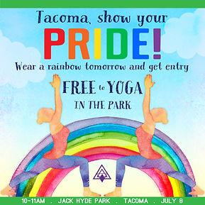 Shanti, Tacoma, Yoga, Pride, Yoga in the Park, Jack Hyde, PNW