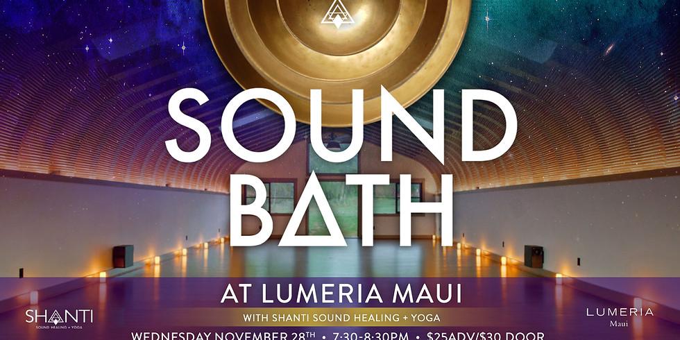 Shanti Sound Bath @Lumeria Nov. 28