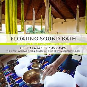 Floating Sound Bath, Sound Bath, Sound Healing, Maui, Vibration, Meditation, Relax, Stress, Event, Wailea, Uplift Maui, Aerial Yoga, Cocoon, Hammock