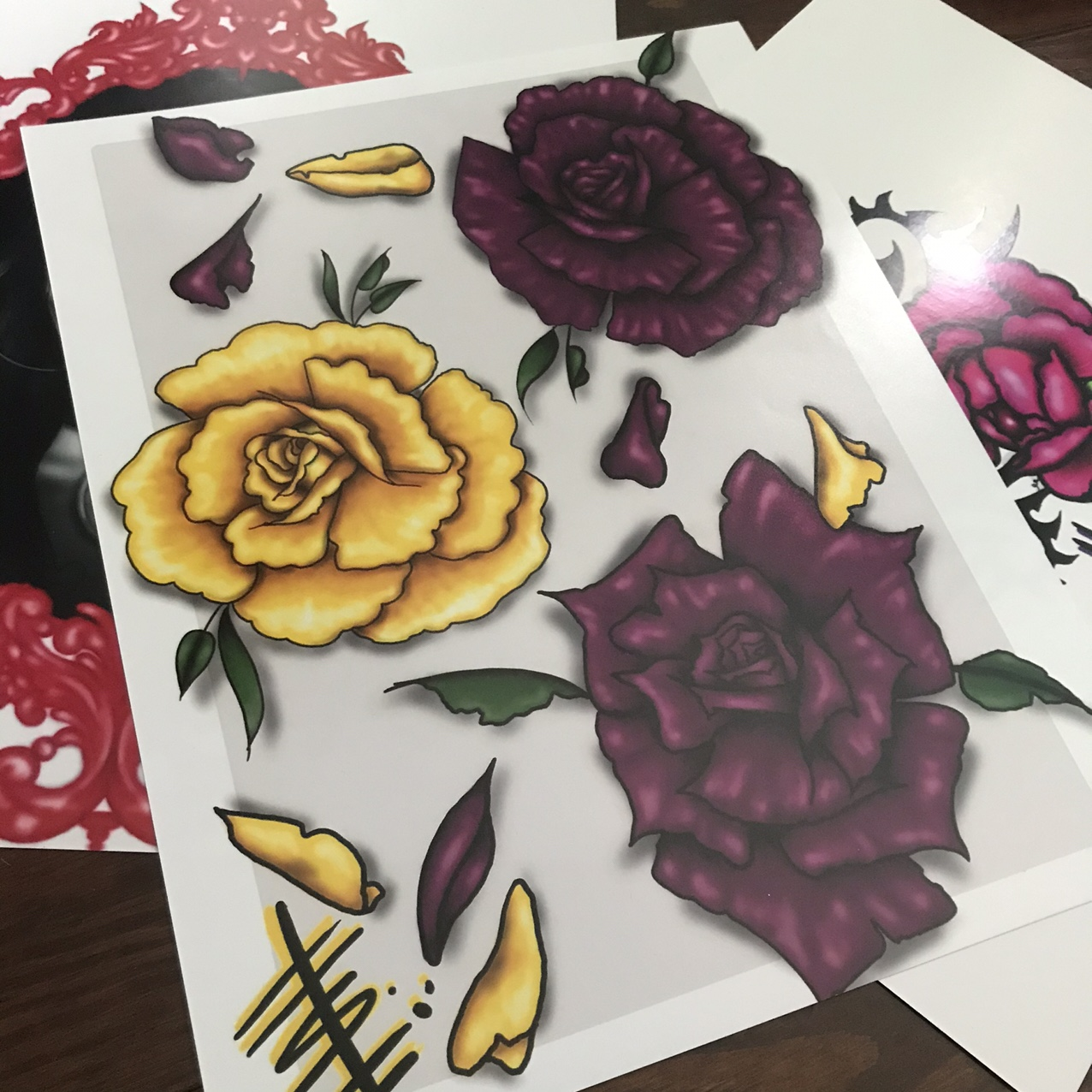 Rose Flash Print