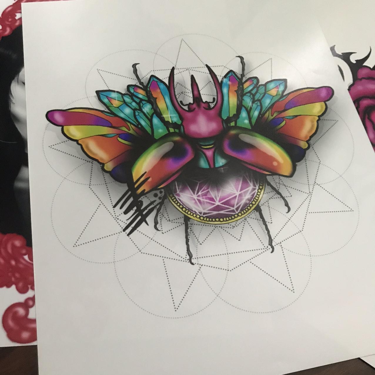 Crystal Beetle Print
