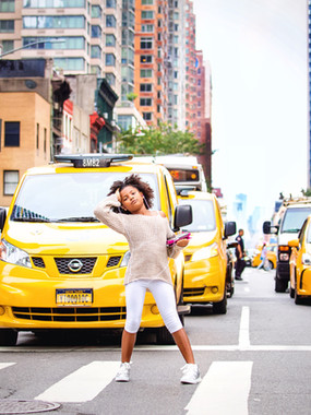 Fashion shoot in the streets of NYC