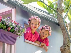 Sisters in pink