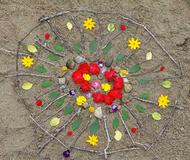 Completed-Beach-Mandala-Made-with-Sticks