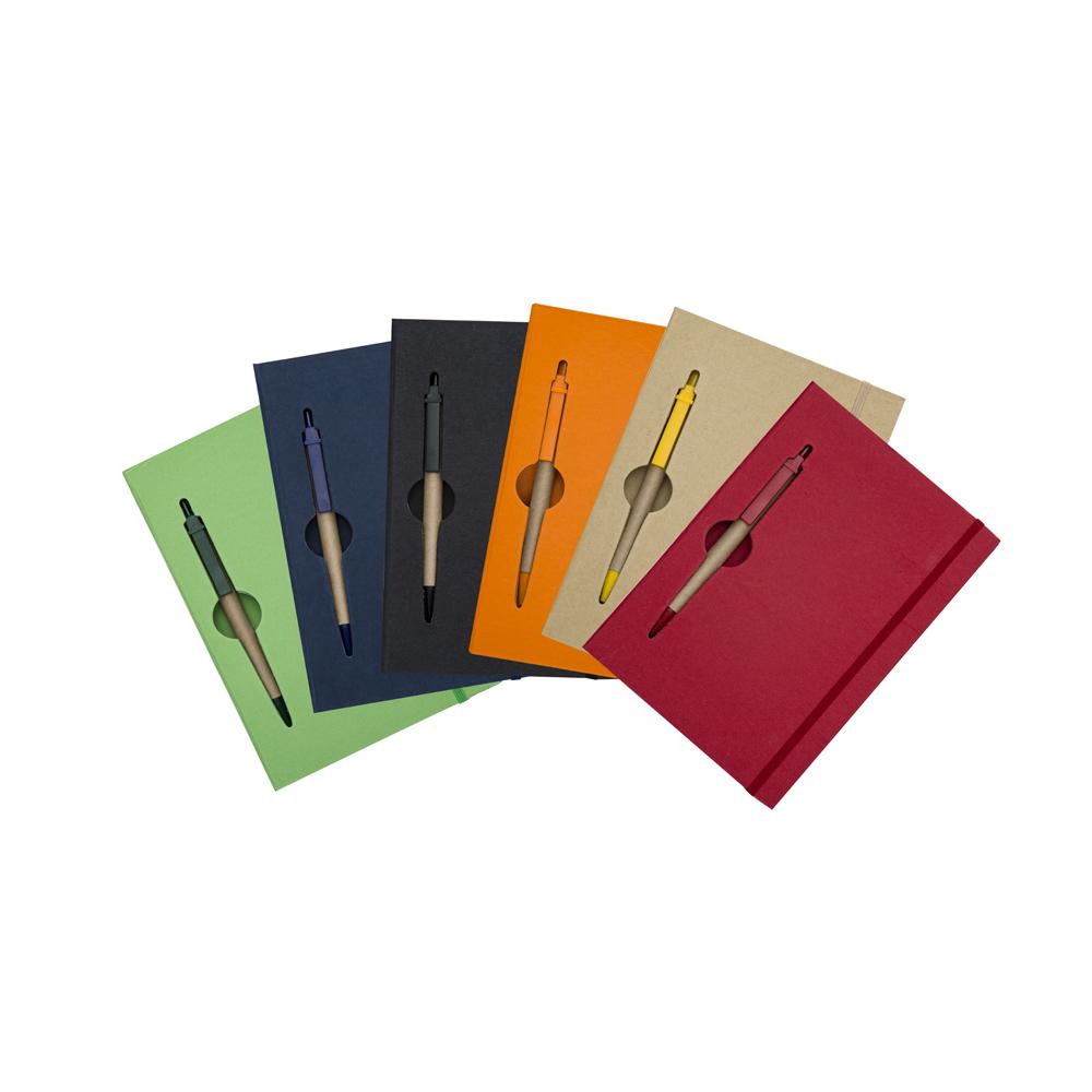 Caderno Anotações Caneta Cores
