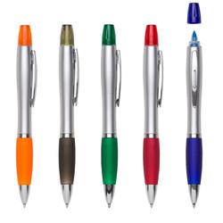 caneta plástica marca texto