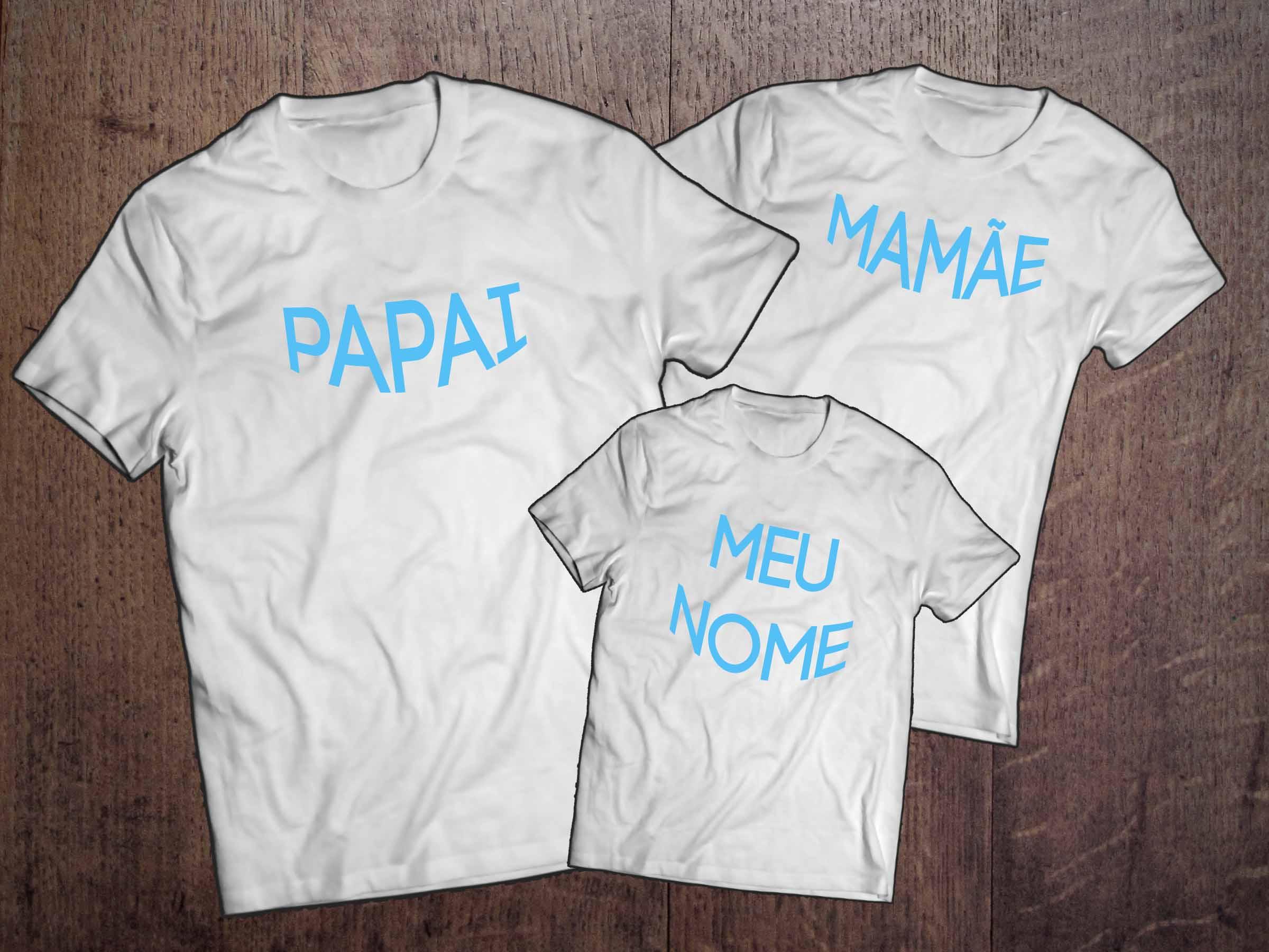 kit Camiseta Família