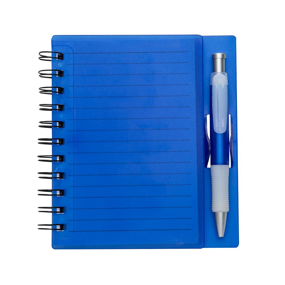 Caderneta com caneta fechada