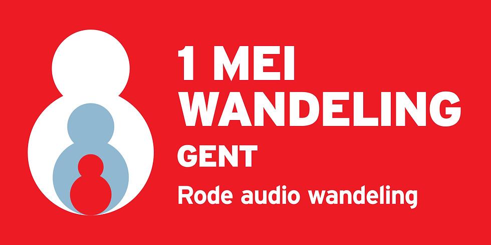 1 mei rode audio wandeling Gent