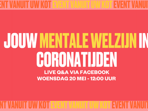 Q&A: jouw mentale welzijn in coronatijden