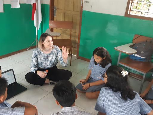 Studente Sophie in Indonesië