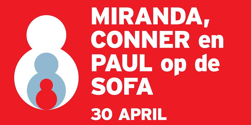 De Vooravond Live : Miranda, Conner en Paul op de sofa