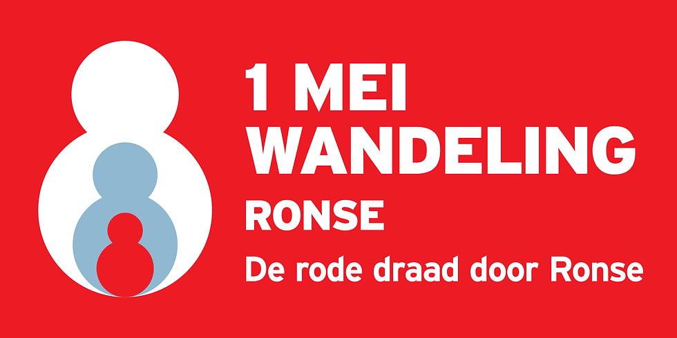 1 mei wandeling de rode draad door Ronse