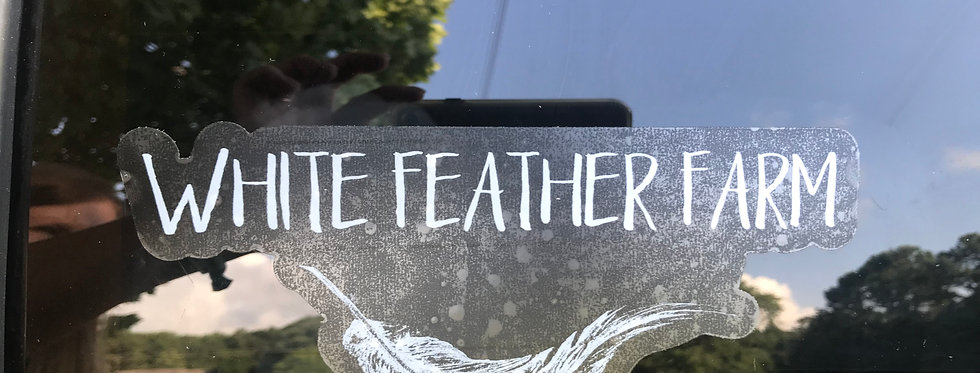 White Feather Farm clear stickers