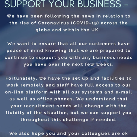 Covid -19 Here to support your business