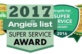 We were fortunate to win another year of Angie's List Super Service Award!