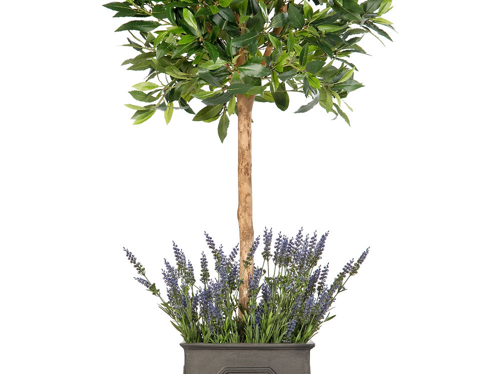 Artificial Bay Tree with Lavender and Stuart Planter