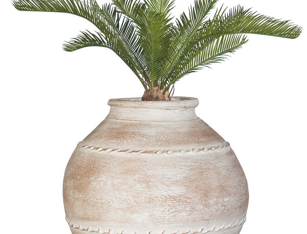 Artificial Cycas Palm with Mediterranean 5 Planter