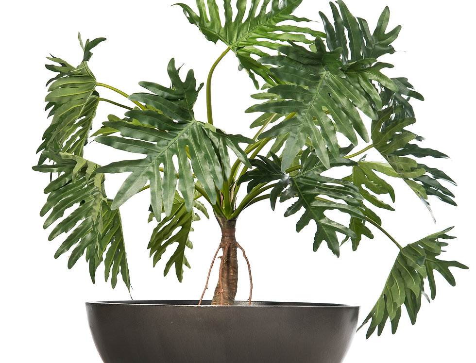 Artificial Philodendron with Bowl Planter