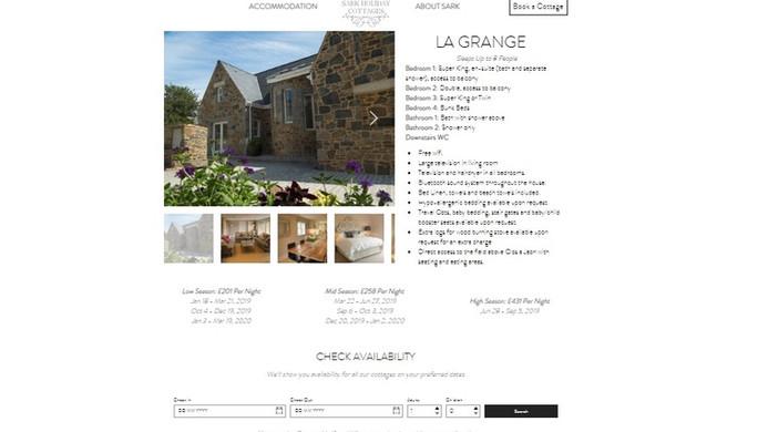 Sark Holiday Cottages - La Grange Page