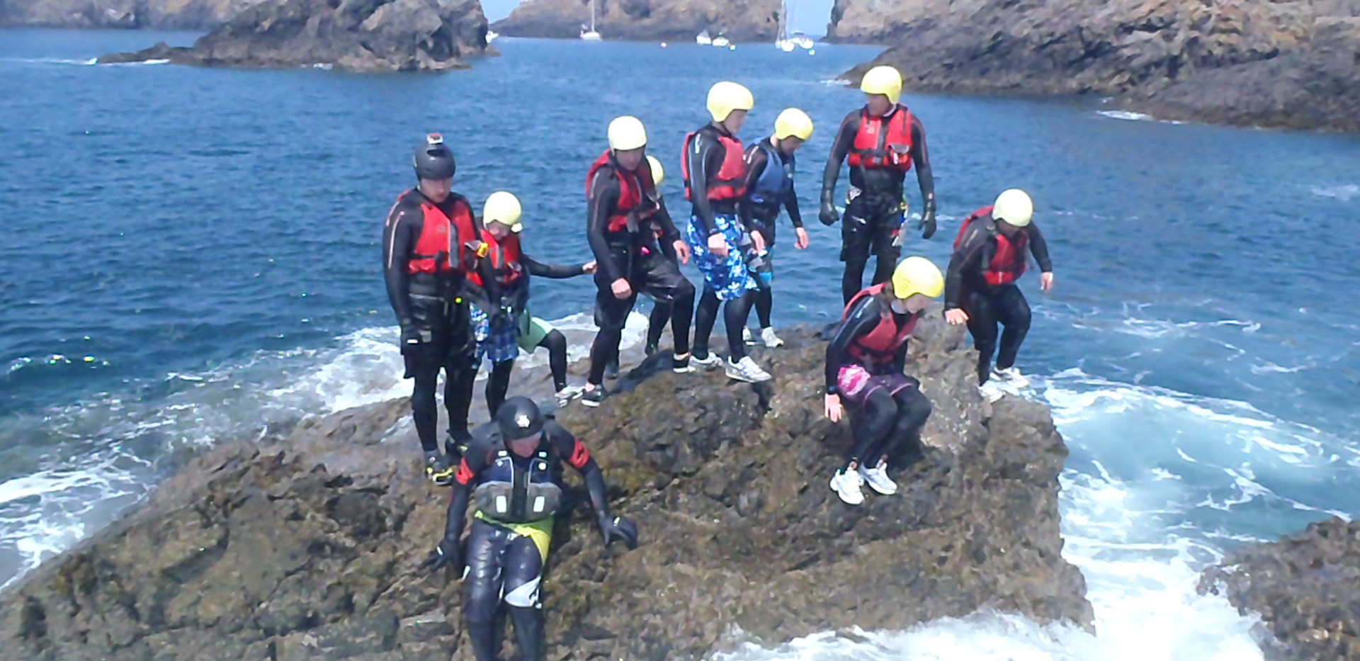 Action and Adventure in Sark - Coasteering2