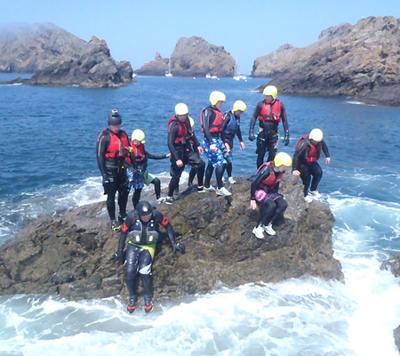 Action and Adventure in Sark - Coasteering2