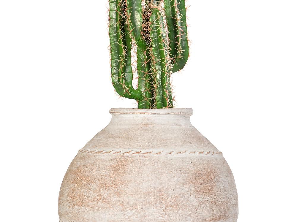 Artificial Cactus Finger with Mediterranean 5 Planter
