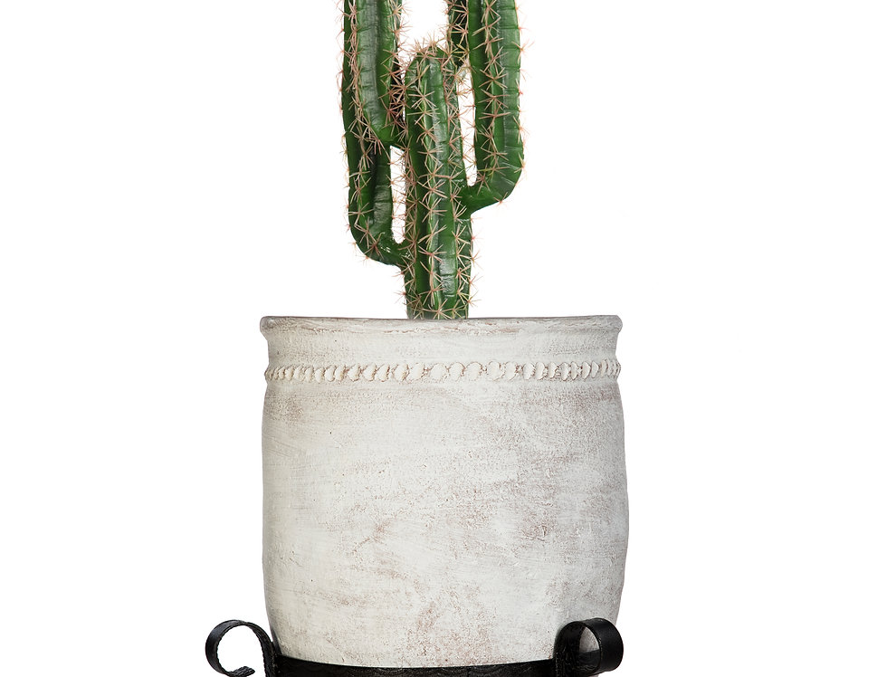 Artificial Cactus Finger with Mediterranean 2 Planter & Stand