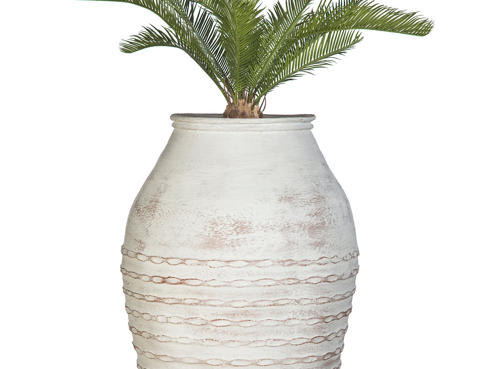 Artificial Cycas Palm with Mediterranean 1 Planter