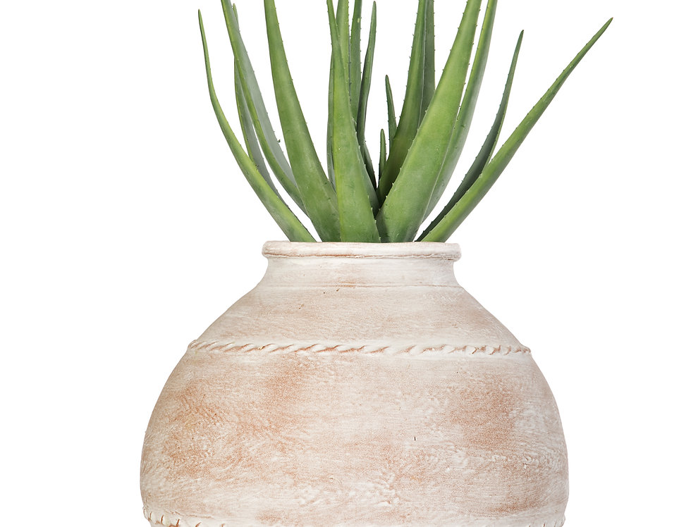 Artificial Aloe Plant with Mediterranean 5 Planter