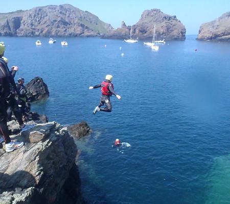 Action and Adventure in Sark - Coasteering