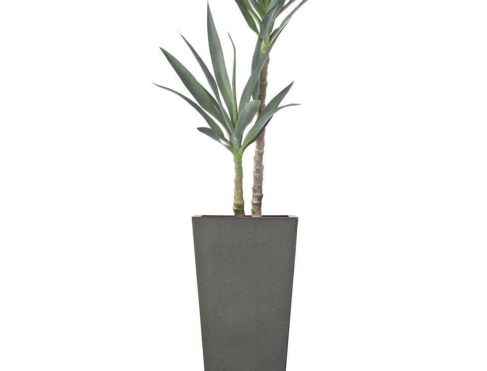 Artificial Yucca Plant with Geo Tapered Square Planter