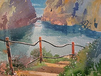 Watercolour-painting-sark-Havre-Gosselin