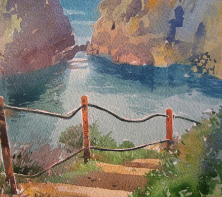 Watercolour-painting-sark-Havre-Gosselin