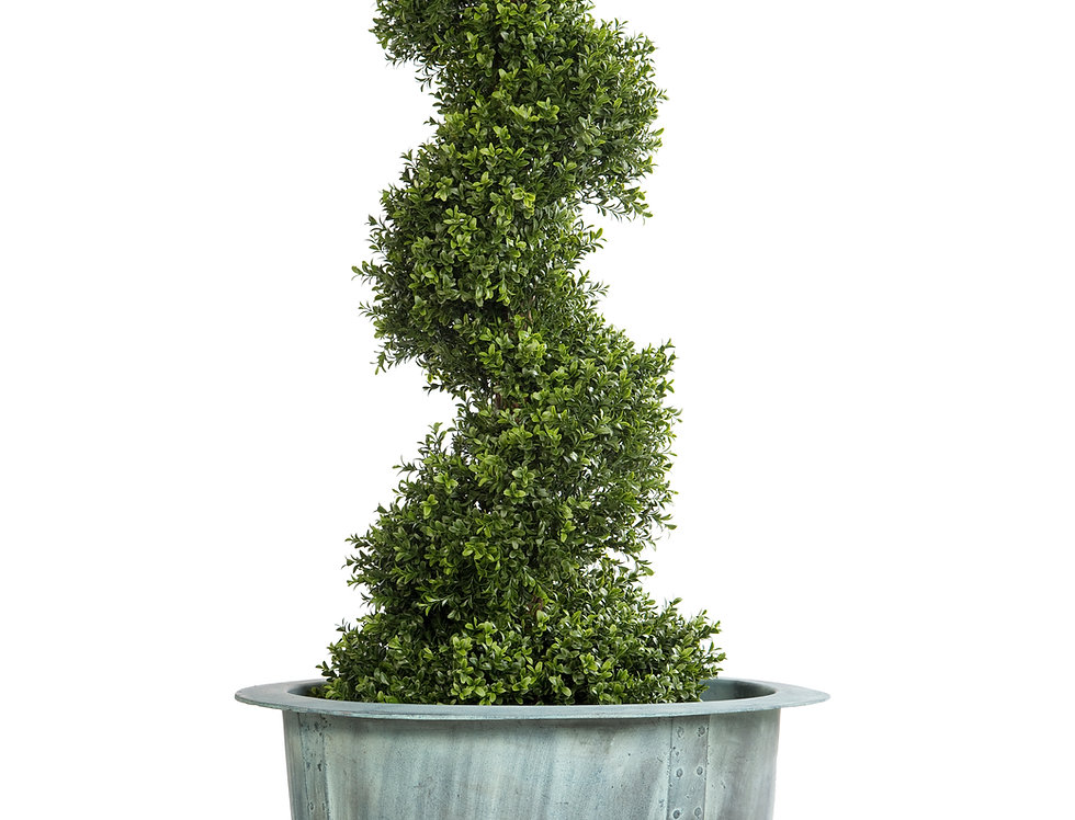 Artificial Spiral Box Tree with Norman Planter