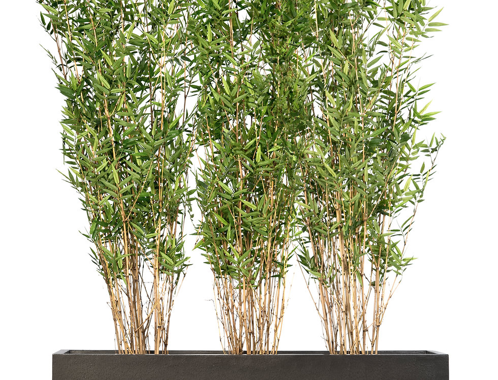 Artificial Bamboo with Trough Planter