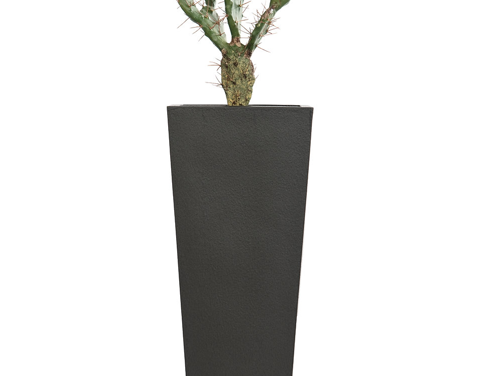 Artificial Cactus with Geo Tapered Square Planter
