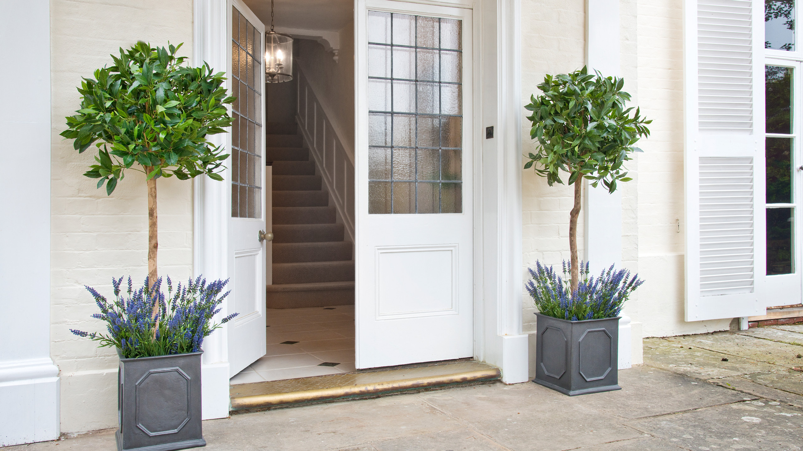 Artificial Bay Trees in Doorway