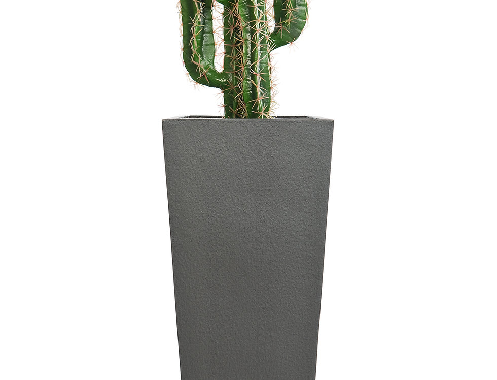 Artificial Cactus Finger with Geo Tapered Square Planter