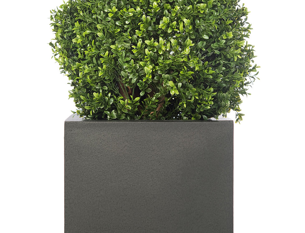 Artificial Box Ball with Geo Cube Planter