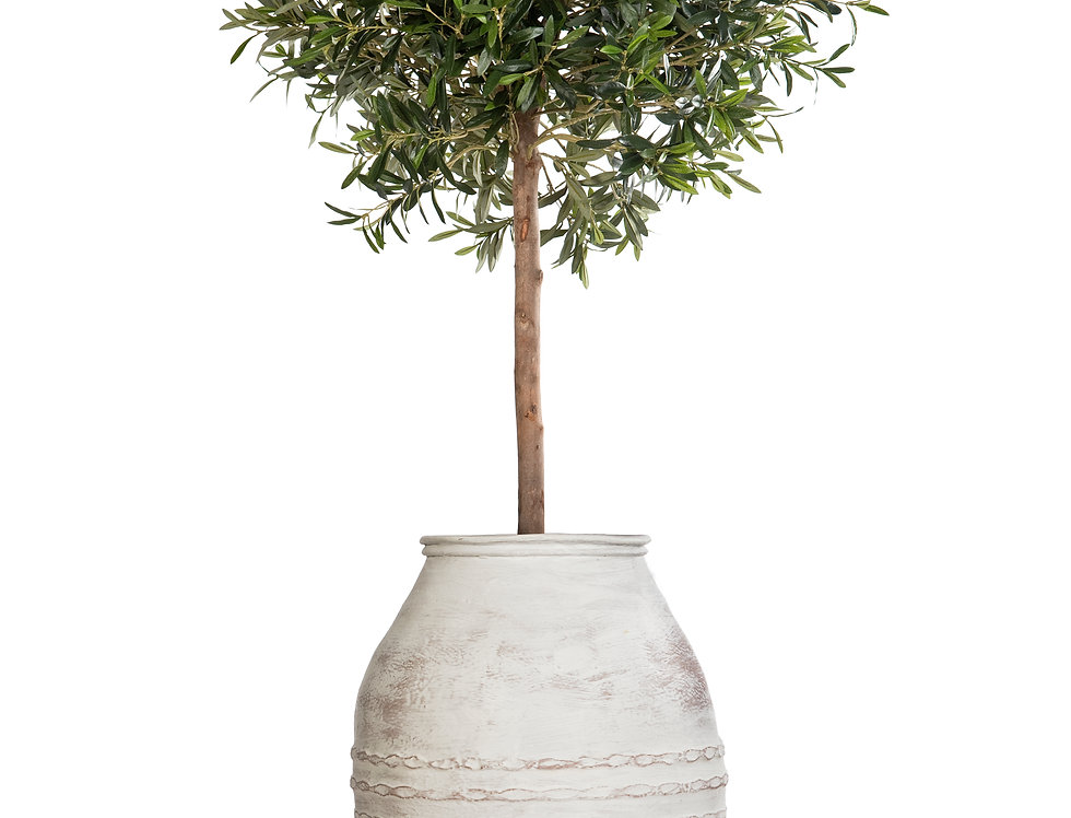 Artificial Olive Tree with Mediterranean 1 Planter